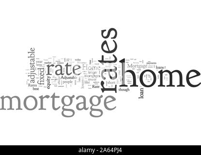 Home Mortgage Rates - Stock Photo