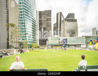 high-rise office buildings at la defense - Stock Photo