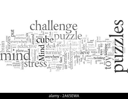 Desk Toys in Mind Puzzles - Stock Photo