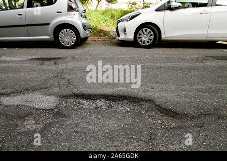 ROMA QUARTIERE TORRESPACCATA-DEGRADO - Stock Photo