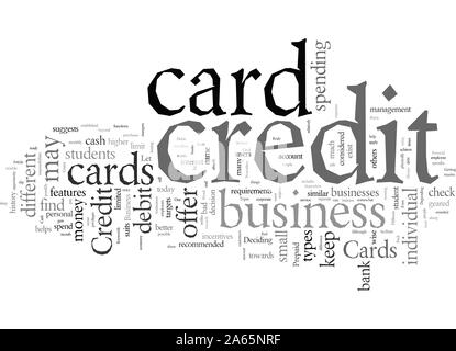 Different Types Of Credit Cards - Stock Photo