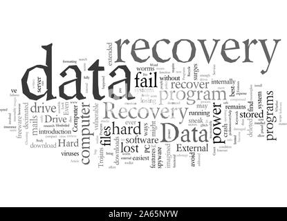 Data Recovery Programs What To Look For - Stock Photo