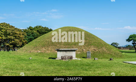 Tomb of King Naemul of Silla in the Gyerim forest in Gyeongju South Korea translation : King Naemul - Stock Photo