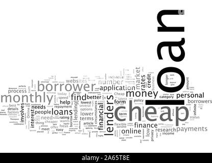 Cheap Loans For The Borrowers Fixated On Low Cost - Stock Photo
