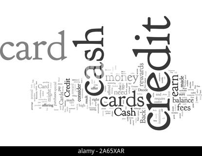 Compare Cash Back Credit Cards Before You Decide - Stock Photo