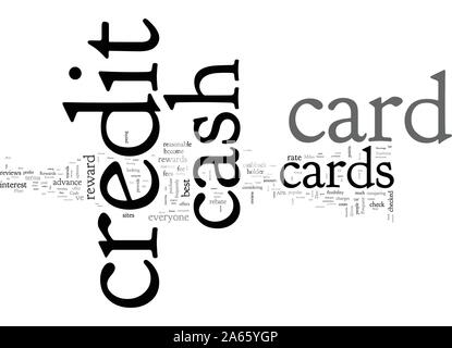 Cash back Credit Cards Where is the Money - Stock Photo
