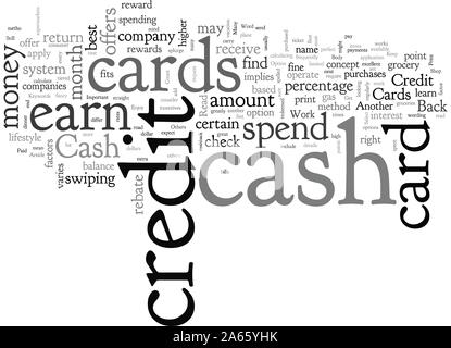 Cash Back Credit Cards Get Paid To Shop - Stock Photo