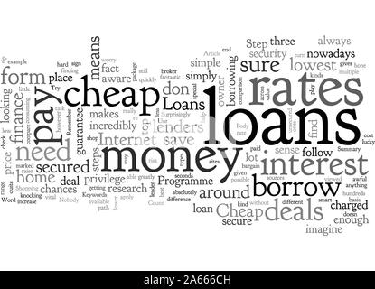 Cheap Loans - Stock Photo