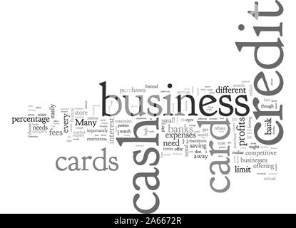 Cash Back Business Credit Cards - Stock Photo