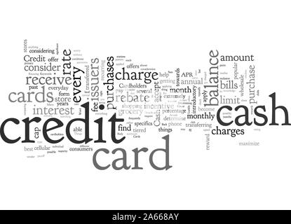 Cash Back Credit Cards A Few Things To Consider - Stock Photo