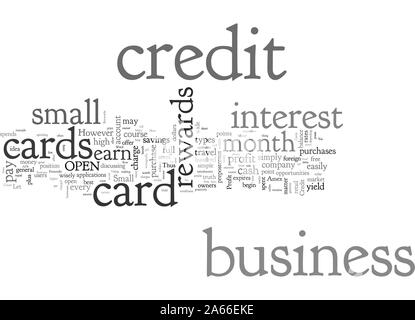 Business Credit Cards Can Make You Money - Stock Photo