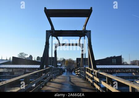 Viking Ship Museum Bridge, Roskilde - Stock Photo