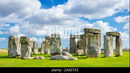 Stonehenge England Stonehenge stone circle Stonehenge neolithic ancient monument Wiltshire England UK GB Europe - Stock Photo