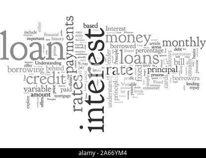 Basic Principles Of A Loan - Stock Photo