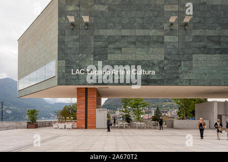 LAC Lugano Arte e Cultura is a new cultural centre dedicated to the visual arts, music and the performing arts, Lugano, Switzerland - Stock Photo