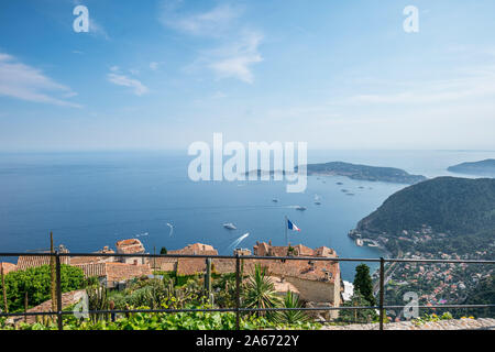 Landscapes View From the Top Of Eze Mountain, Nice, France - Stock Photo