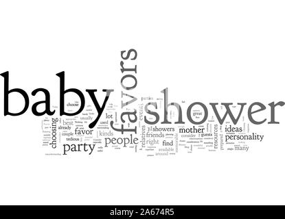 baby shower favors - Stock Photo