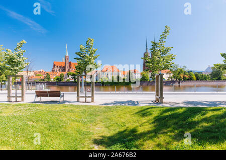 Wroclaw in Poland. View of the historical medieval quater with gothic architecture - Stock Photo