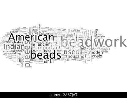 american indian art auctions beadwork - Stock Photo