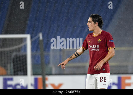Rome, Italy. 24th Oct, 2019. Nicolo' Zaniolo of AS Roma during the UEFA Europa League group stage match between AS Roma and Borussia Monchengladbach at Stadio Olimpico, Rome, Italy. Photo by Giuseppe Maffia. Credit: UK Sports Pics Ltd/Alamy Live News - Stock Photo