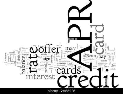 About APR Credit Cards - Stock Photo