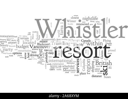 A Tourist Guide To Whistler - Stock Photo