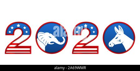 Presidential Election 0f USA 2020. Vote, Voting. American Advertise - Illustration Vector - Stock Photo