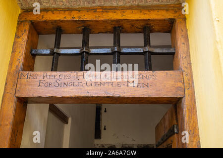 The cells of the gaol section of the Castle of Good Hope. Cape Town, South Africa. - Stock Photo
