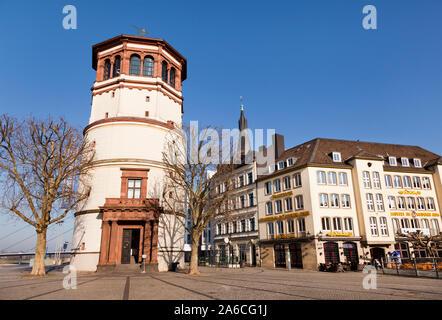 Schlossturm castle tower in aldstadt old town of Dusseldorf city in Germany - Stock Photo