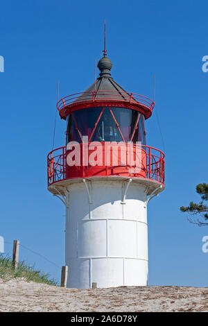 The southern lighthouse on Hiddensee Island, Mecklenburg Western-Pomerania, Germany. - Stock Photo