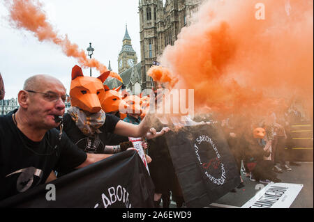 Old Palace Yard, Whitehall, London, UK. 14th July, 2015.  Queen guitarist and rock legend Brian May leads a rally through Westminster against David Ca - Stock Photo