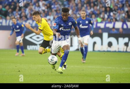 Gelsenkirchen, Deutschland. 26th Oct, 2019. firo: 26.10.2019, Football, Football: 1.Bundesliga, season 2019/2020, FC Schalke 04 - Borussia Dortmund Rabbi Matondo, | usage worldwide Credit: dpa/Alamy Live News Stock Photo