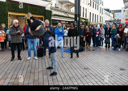 Cork, Ireland, 26th October 2019.   42nd Guinness Cork Jazz Festival, Cork City. Today is the second day of the 42nd Gunniess Cork Jazz Festival which is running from Friday till Monday, Jazz bands have come from all over the world to perform in the festival. Credit: Damian Coleman - Stock Photo
