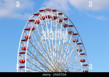 Giant Wheel ferris wheel at Gillian's Wonderland pier in Ocean City, New Jersey. USA - Stock Photo