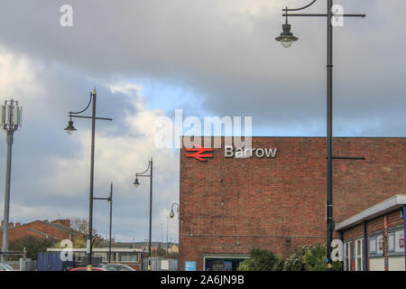 Barrow In-Furness, railway station, uk, transport, furness transport, cumbria, barrow railway station, UK. - Stock Photo