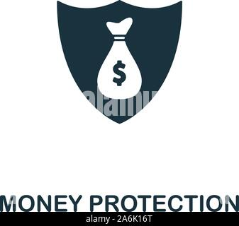 Money Protection vector icon symbol. Creative sign from gdpr icons collection. Filled flat Money Protection icon for computer and mobile - Stock Photo