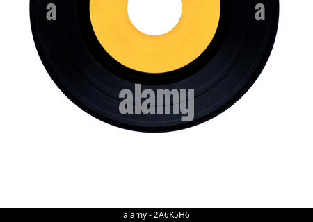 Vinyl record on isolated white background - Stock Photo