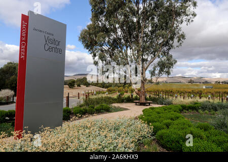 Jacobs Creek visitors centre in the  Barossa Valley  wine growing region in south Australia.  There are about 150 wineries in the Barossa Valley wine - Stock Photo