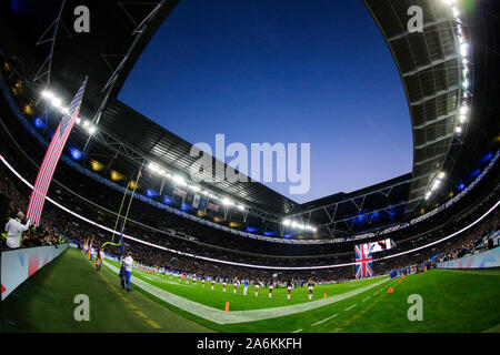 Wembley Stadium, London, UK. 27th Oct, 2019. National Football League, Los Angeles Rams versus Cincinnati Bengals; National Anthem - Editorial Use Credit: Action Plus Sports/Alamy Live News - Stock Photo