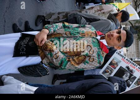 London, UK. 27th Oct, 2019. Kashmir protest London Blackday Credit: Londonphotos/Alamy Live News - Stock Photo