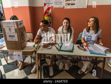 Buenos Aires, Argentina - October 27, 2019: Voting at the presidential elections - Stock Photo
