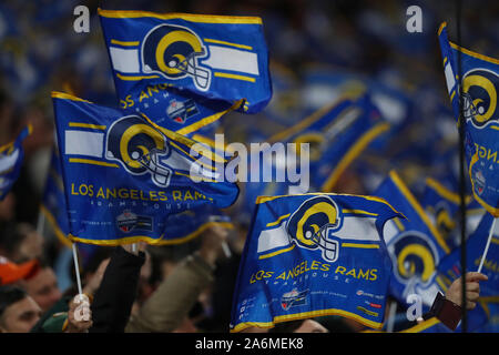 London, UK. 27th Oct, 2019. A general view during the NFL game between Cincinnati Bengals and LA Rams at Wembley Stadium in London, United Kingdom. 27 October 2019 Credit: European Sports Photographic Agency/Alamy Live News - Stock Photo
