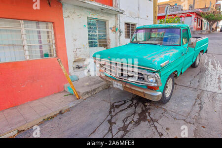 Mazatlan, Mexico-10 September, 2019: Mazatlan streets in poor neighborhood known for cartel and criminal activity - Stock Photo