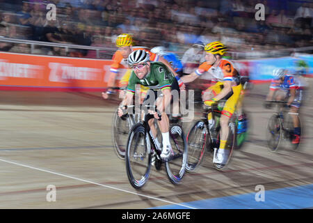 London, UK. 27th Oct, 2019. Mark Cavendish of Great Britain during Day 6 of Six Day London 2019 at Lee Valley VeloPark on Sunday, October 27, 2019 in LONDON, UNITED KINGDOM. Credit: Taka Wu/Alamy Live News - Stock Photo
