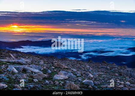 A Beautiful Sunrise Above the Clouds in Colorado