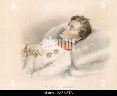 The Duke of Reichstadt (Napoleon II, 1832) on the deathbed - Franz Xaver Stober - Stock Photo