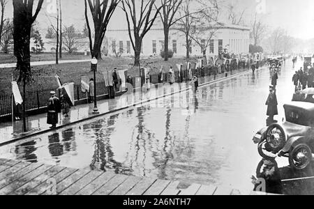 Woman Suffrage Movement - Woman Suffrage Picket Parade (picketers) in Washington D.C. ca. 1917 - Stock Photo