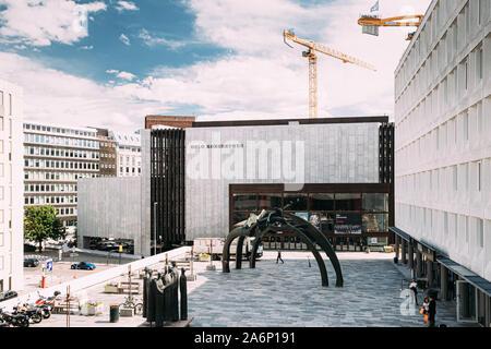 Oslo, Norway - June 24, 2019: People Walking Near Oslo Concert Hall. - Stock Photo