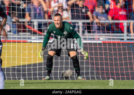 Bologna, Italy. 27th Oct, 2019. Lukasz Skorupski (Bologna) during the Italian 'Serie A' match between Bologna 2-1 Sampdoria at Renato Dall Ara Stadium on October 27, 2019 in Bologna, Italy. Credit: Aflo Co. Ltd./Alamy Live News Stock Photo