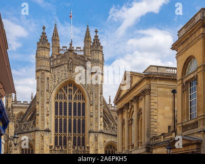 Bath Abbey, a parish church of the Church of England and former Benedictine monastery in Bath, Somerset, England. - Stock Photo